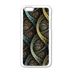 Line Semi Circle Background Patterns 82323 3840x2400 Apple Iphone 6/6s White Enamel Case