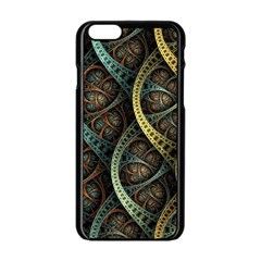 Line Semi Circle Background Patterns 82323 3840x2400 Apple Iphone 6/6s Black Enamel Case