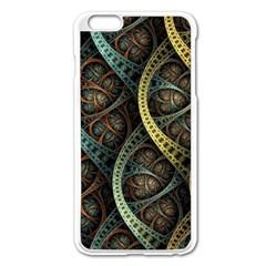 Line Semi Circle Background Patterns 82323 3840x2400 Apple Iphone 6 Plus/6s Plus Enamel White Case