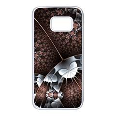 Lines Background Light Dark 81522 3840x2400 Samsung Galaxy S7 White Seamless Case