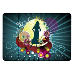 Abstraction Vector Heavens Woman Flowers  Samsung Galaxy Tab 8 9  P7300 Flip Case