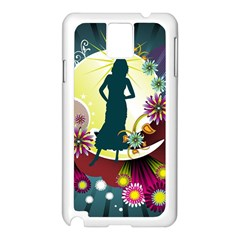 Abstraction Vector Heavens Woman Flowers  Samsung Galaxy Note 3 N9005 Case (white)