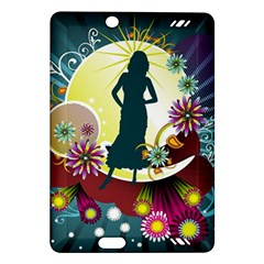 Abstraction Vector Heavens Woman Flowers  Amazon Kindle Fire Hd (2013) Hardshell Case