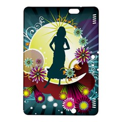 Abstraction Vector Heavens Woman Flowers  Kindle Fire Hdx 8 9  Hardshell Case