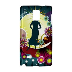 Abstraction Vector Heavens Woman Flowers  Samsung Galaxy Note 4 Hardshell Case