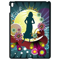 Abstraction Vector Heavens Woman Flowers  Apple Ipad Pro 9 7   Black Seamless Case