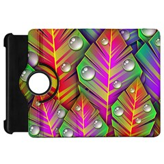 Leaves Dew Art Bright Lines Patterns  Kindle Fire Hd 7