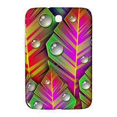 Leaves Dew Art Bright Lines Patterns  Samsung Galaxy Note 8 0 N5100 Hardshell Case