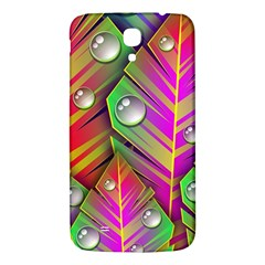Leaves Dew Art Bright Lines Patterns  Samsung Galaxy Mega I9200 Hardshell Back Case