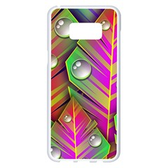 Leaves Dew Art Bright Lines Patterns  Samsung Galaxy S8 Plus White Seamless Case