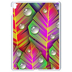 Leaves Dew Art Bright Lines Patterns  Apple Ipad Pro 9 7   White Seamless Case