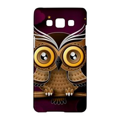 Owl Bird Art Branch 97204 3840x2400 Samsung Galaxy A5 Hardshell Case