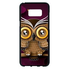 Owl Bird Art Branch 97204 3840x2400 Samsung Galaxy S8 Plus Black Seamless Case