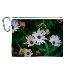 Garden Flowers Canvas Cosmetic Bag (l)