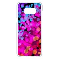 Colorful Community Glare Bright  Samsung Galaxy S8 Plus White Seamless Case