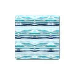Watercolor Blue Abstract Summer Pattern Square Magnet