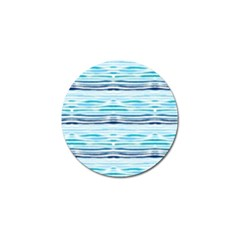 Watercolor Blue Abstract Summer Pattern Golf Ball Marker (10 Pack)