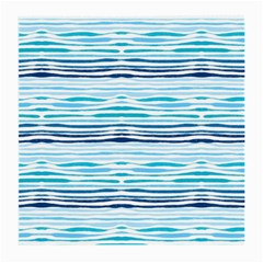 Watercolor Blue Abstract Summer Pattern Medium Glasses Cloth (2 Side)