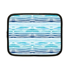 Watercolor Blue Abstract Summer Pattern Netbook Case (small)