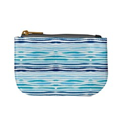 Watercolor Blue Abstract Summer Pattern Mini Coin Purses
