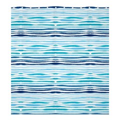 Watercolor Blue Abstract Summer Pattern Shower Curtain 66  X 72  (large)