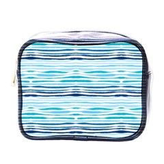Watercolor Blue Abstract Summer Pattern Mini Toiletries Bags