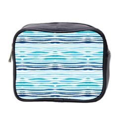 Watercolor Blue Abstract Summer Pattern Mini Toiletries Bag 2 Side