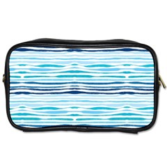 Watercolor Blue Abstract Summer Pattern Toiletries Bags