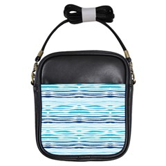 Watercolor Blue Abstract Summer Pattern Girls Sling Bags