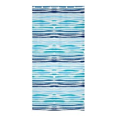 Watercolor Blue Abstract Summer Pattern Shower Curtain 36  X 72  (stall)