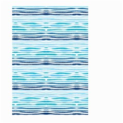 Watercolor Blue Abstract Summer Pattern Large Garden Flag (two Sides)