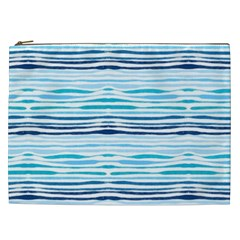 Watercolor Blue Abstract Summer Pattern Cosmetic Bag (xxl)