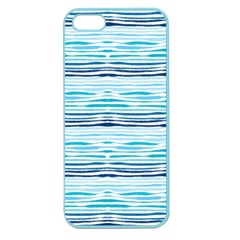 Watercolor Blue Abstract Summer Pattern Apple Seamless Iphone 5 Case (color)