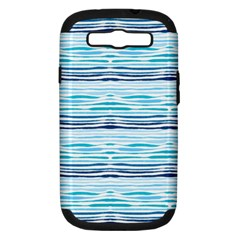 Watercolor Blue Abstract Summer Pattern Samsung Galaxy S Iii Hardshell Case (pc+silicone)