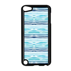 Watercolor Blue Abstract Summer Pattern Apple Ipod Touch 5 Case (black)