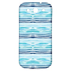 Watercolor Blue Abstract Summer Pattern Samsung Galaxy S3 S Iii Classic Hardshell Back Case