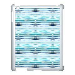 Watercolor Blue Abstract Summer Pattern Apple Ipad 3/4 Case (white)