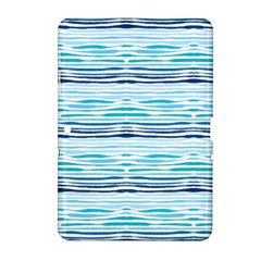 Watercolor Blue Abstract Summer Pattern Samsung Galaxy Tab 2 (10 1 ) P5100 Hardshell Case