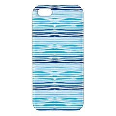 Watercolor Blue Abstract Summer Pattern Iphone 5s/ Se Premium Hardshell Case