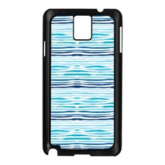 Watercolor Blue Abstract Summer Pattern Samsung Galaxy Note 3 N9005 Case (black)