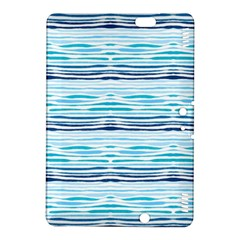 Watercolor Blue Abstract Summer Pattern Kindle Fire Hdx 8 9  Hardshell Case
