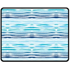 Watercolor Blue Abstract Summer Pattern Double Sided Fleece Blanket (medium)