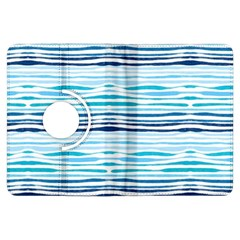 Watercolor Blue Abstract Summer Pattern Kindle Fire Hdx Flip 360 Case