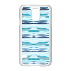 Watercolor Blue Abstract Summer Pattern Samsung Galaxy S5 Case (white)