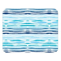 Watercolor Blue Abstract Summer Pattern Double Sided Flano Blanket (large)