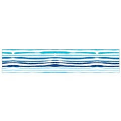 Watercolor Blue Abstract Summer Pattern Flano Scarf (small)