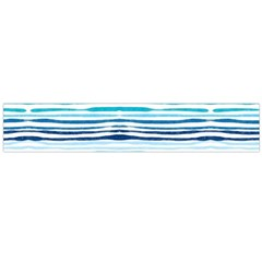 Watercolor Blue Abstract Summer Pattern Flano Scarf (large)
