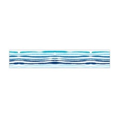 Watercolor Blue Abstract Summer Pattern Flano Scarf (mini)