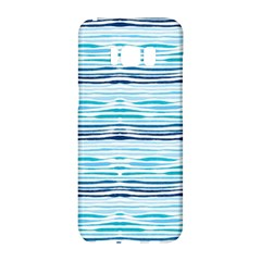 Watercolor Blue Abstract Summer Pattern Samsung Galaxy S8 Hardshell Case