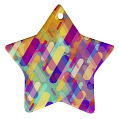 Colorful Abstract Background Ornament (star)